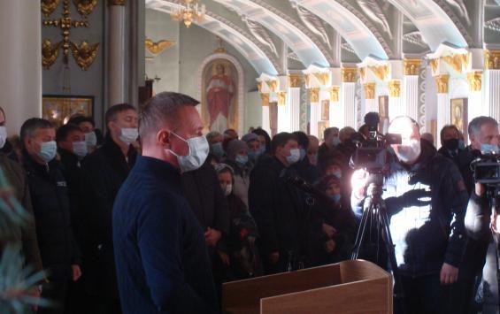 На панихиде в Знаменском соборе выступил курский губернатор