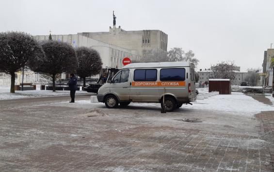 В Курске снег убирают 58 единиц техники