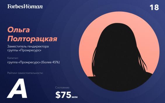 Курянка Ольга Полторацкая в двадцатке богатейших женщин России