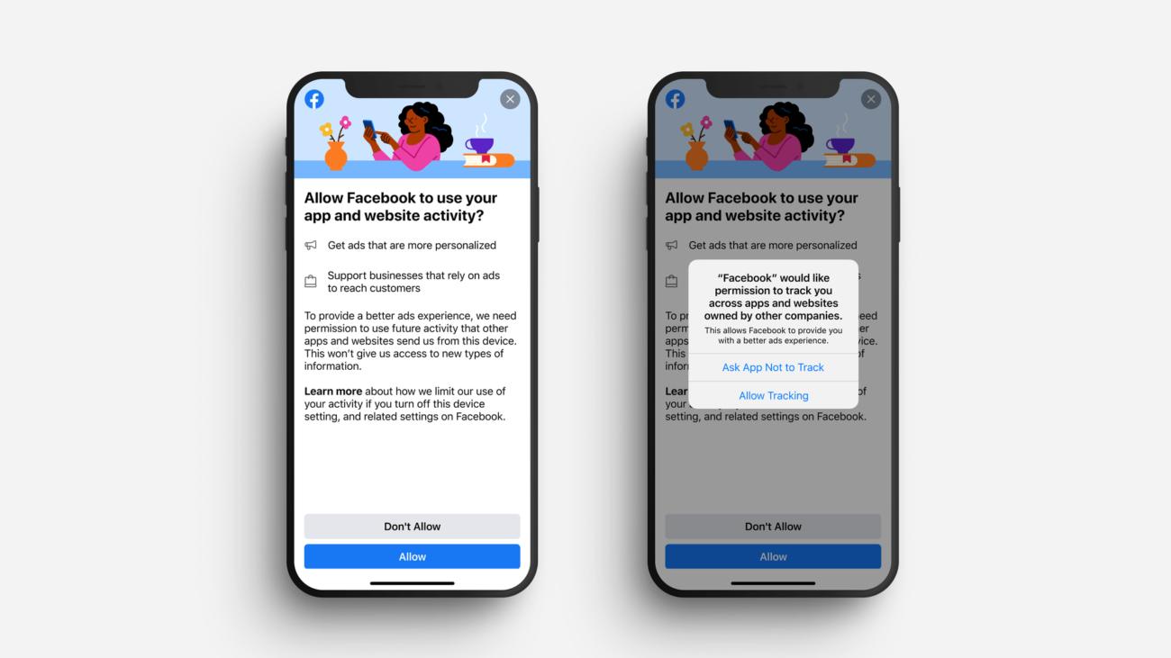 Facebook начала тестировать уведомления о собираемых данных на iOS, чтобы обыграть Apple: её сообщение вызывает «панику»
