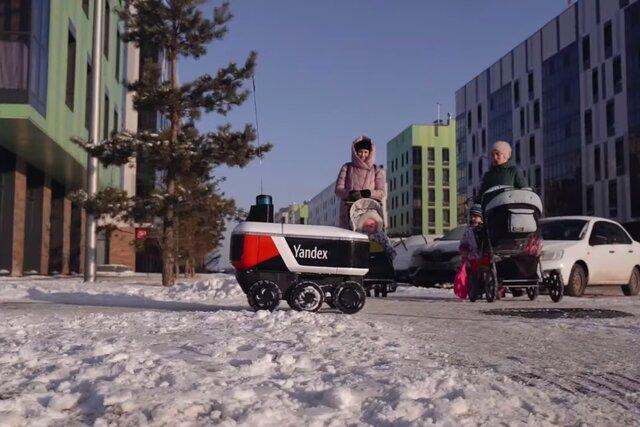 По Москве и Иннополису теперь ездят роботы-курьеры с едой. Их попытаются догнать через 3, 2, 1…