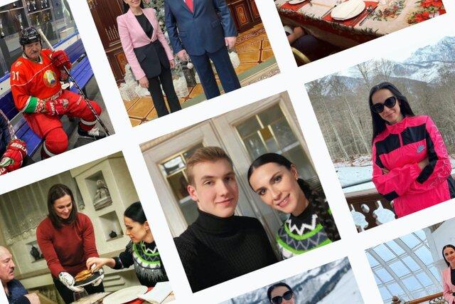 Наиля Аскер-заде превратила свой инстаграм в зал славы Александра и Николая Лукашенко. Что ни пост — все о них