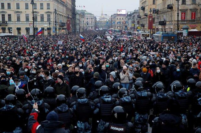 Как проходили протестные акции 23 января. Самые показательные видео