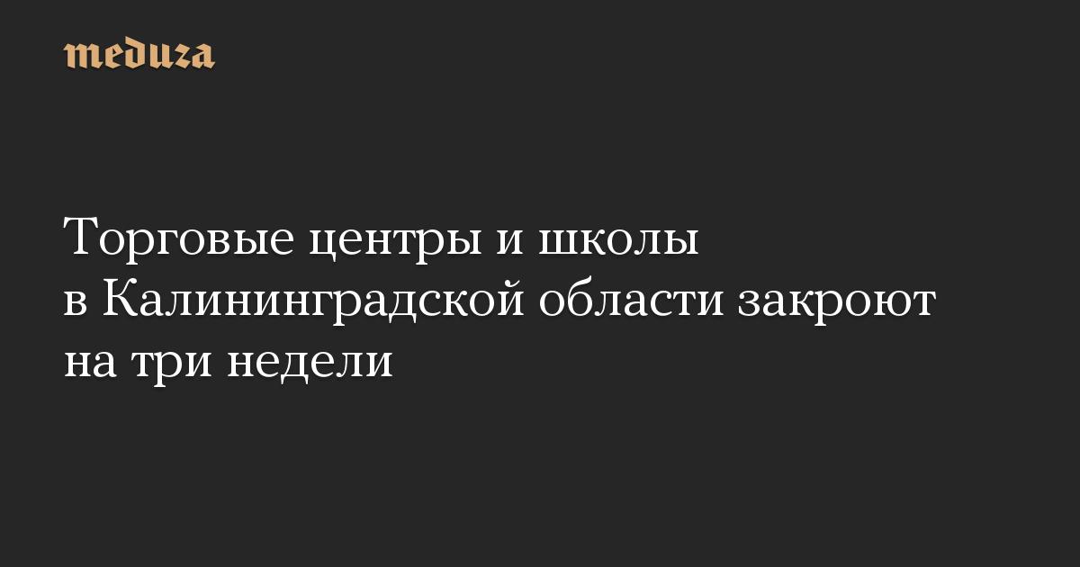 Торговые центры и школы в Калининградской области закроют на три недели
