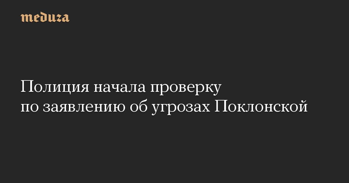 Полиция начала проверку по заявлению об угрозах Поклонской