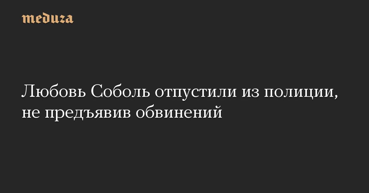 Любовь Соболь отпустили из полиции, не предъявив обвинений
