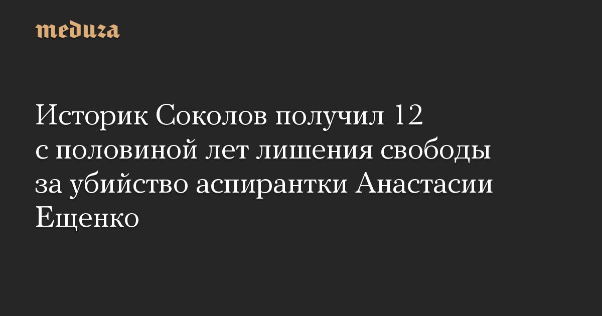 Историк Соколов получил 12 с половиной лет лишения свободы за убийство аспирантки Анастасии Ещенко