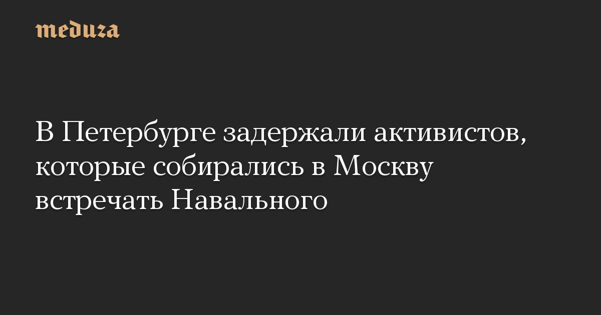 В Петербурге задержали активистов, которые собирались в Москву встречать Навального