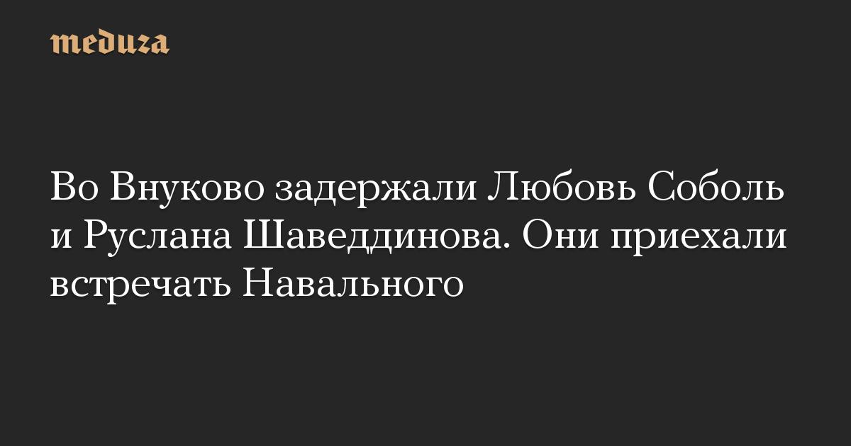 Во Внуково задержали Любовь Соболь и Руслана Шаведдинова. Они приехали встречать Навального