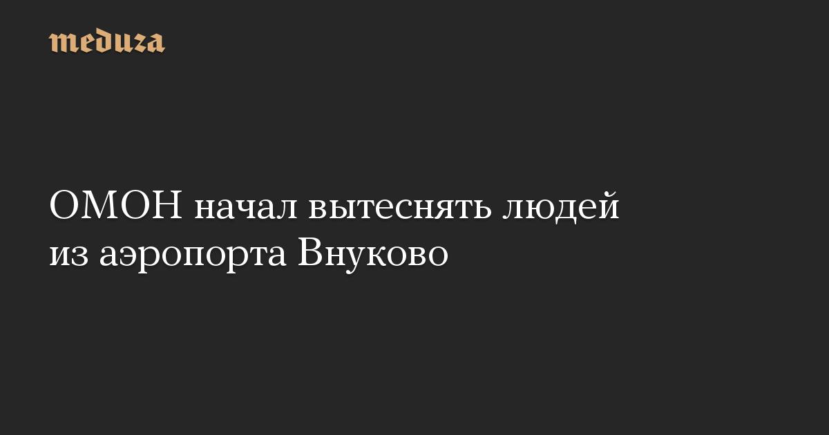 ОМОН начал вытеснять людей из аэропорта Внуково