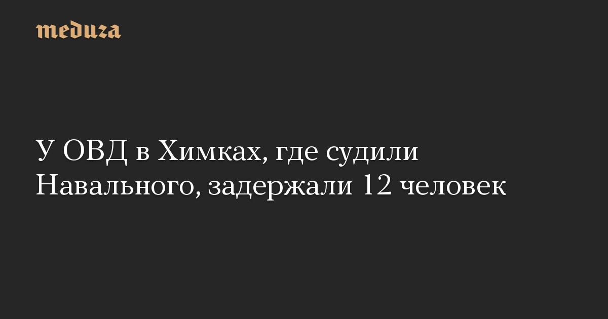 У ОВД в Химках, где судили Навального, задержали 12 человек