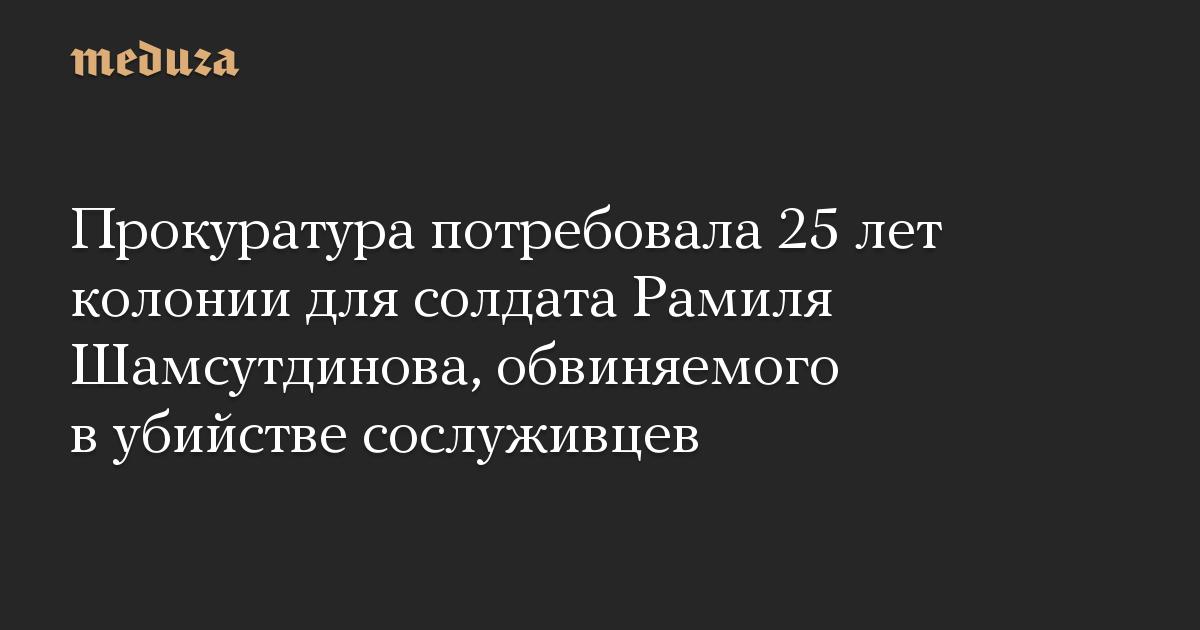 Прокуратура потребовала 25 лет колонии для солдата Рамиля Шамсутдинова, обвиняемого в убийстве сослуживцев
