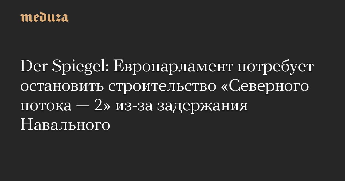 Der Spiegel: Европарламент потребует остановить строительство «Северного потока — 2» из-за задержания Навального