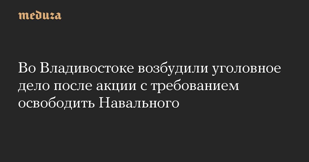 Во Владивостоке возбудили уголовное дело после акции с требованием освободить Навального
