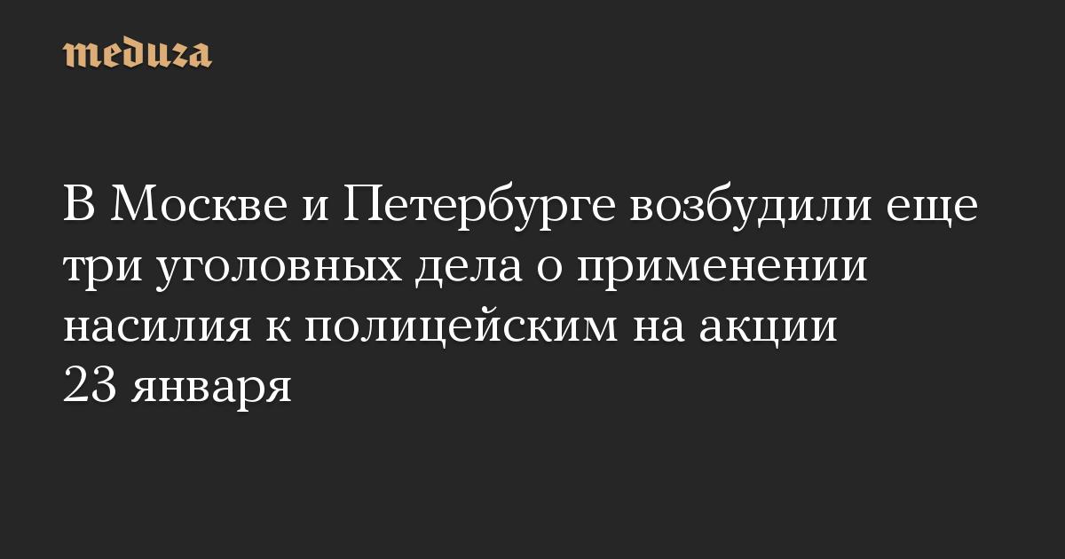 В Москве и Петербурге возбудили еще три уголовных дела о применении насилия к полицейским на акции 23 января