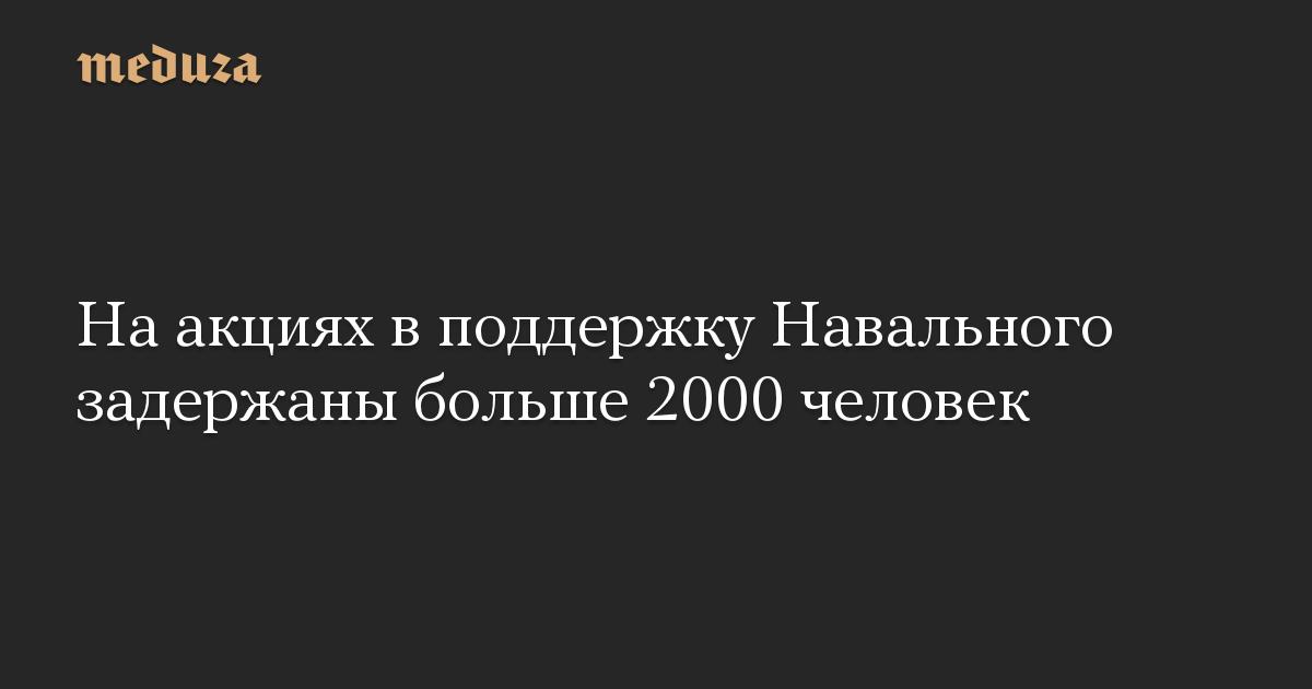 На акциях в поддержку Навального задержаны больше 2000 человек