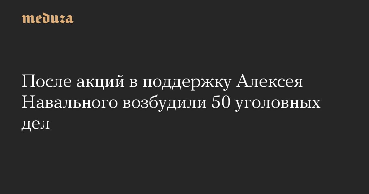 После акций в поддержку Алексея Навального возбудили 50 уголовных дел
