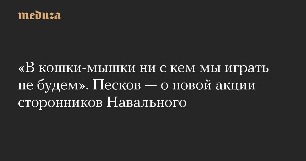 «В кошки-мышки ни с кем мы играть не будем». Песков — о новой акции сторонников Навального