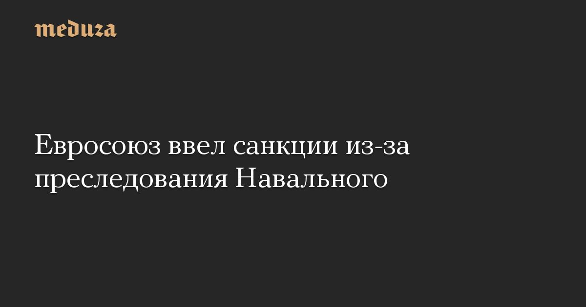 Евросоюз ввел санкции из-за преследования Навального