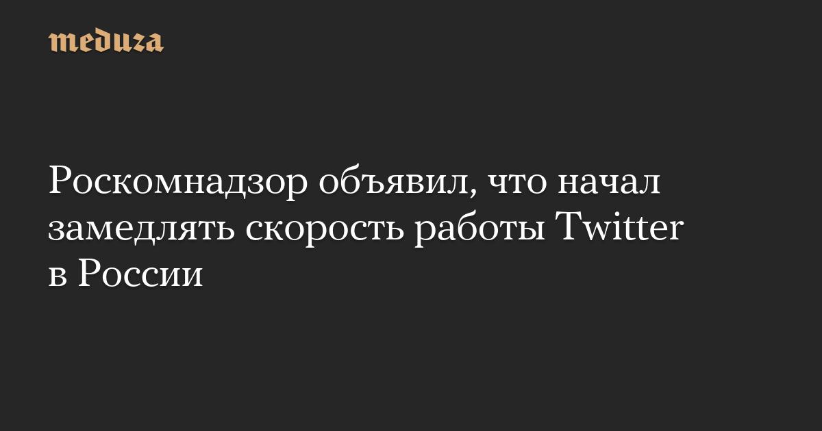 Роскомнадзор объявил, что начал замедлять скорость работы Twitter в России