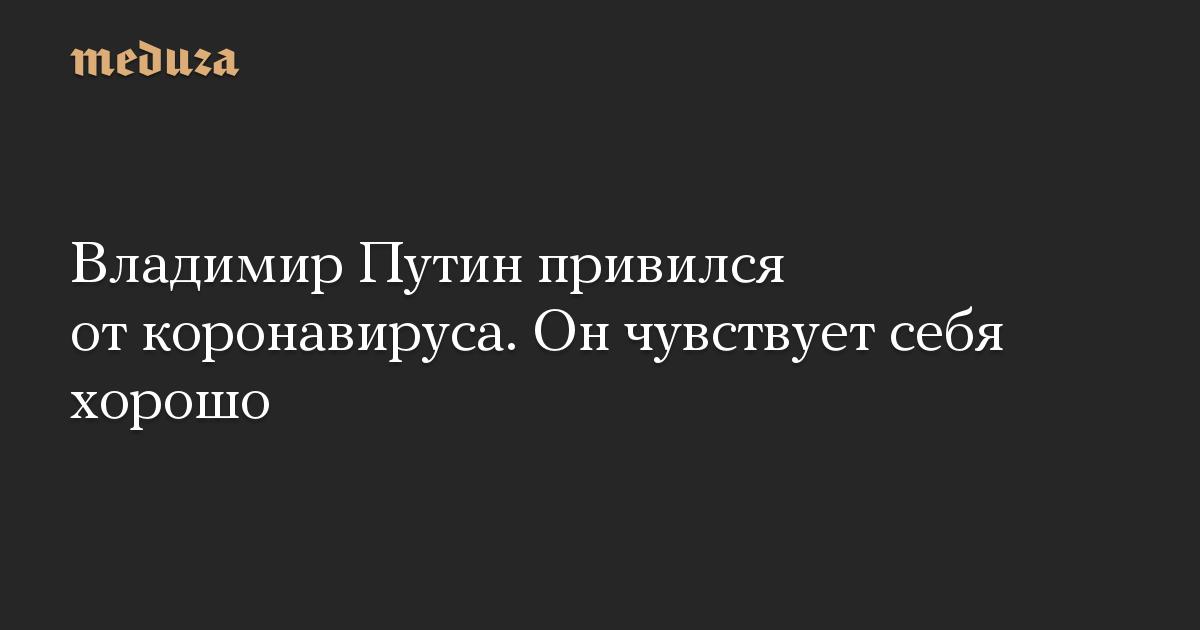 Владимир Путин привился от коронавируса. Он чувствует себя хорошо