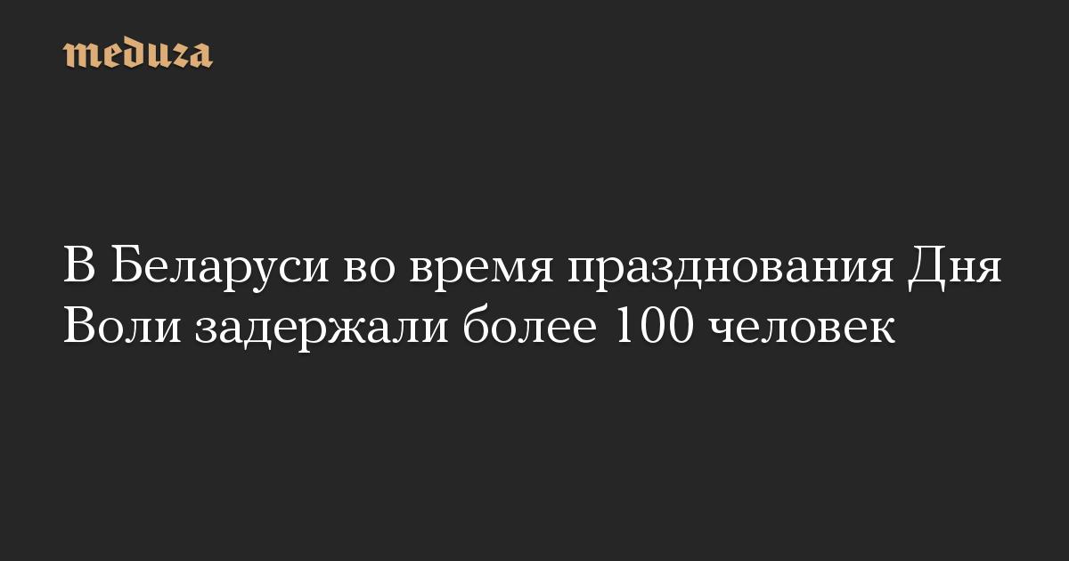 В Беларуси во время празднования Дня Воли задержали более 100 человек
