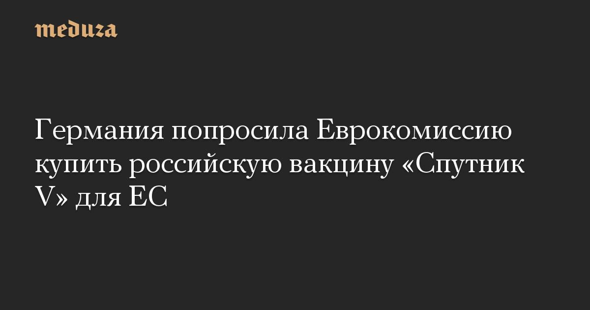 Германия попросила Еврокомиссию купить российскую вакцину «Спутник V» для ЕС