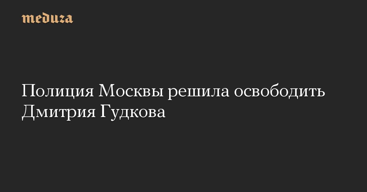 Полиция Москвы решила освободить Дмитрия Гудкова