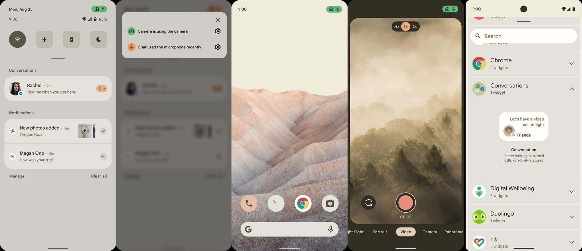 Первые скриншоты Android 12