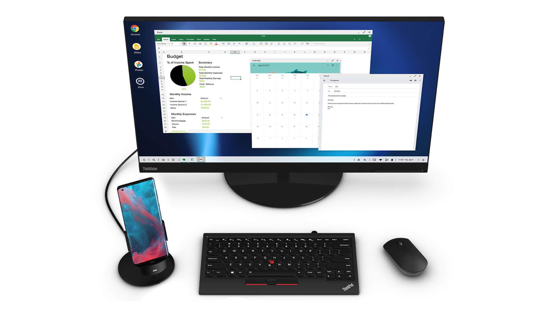 Motorola Ready For превращает смартфон Edge Plus в настольный ПК