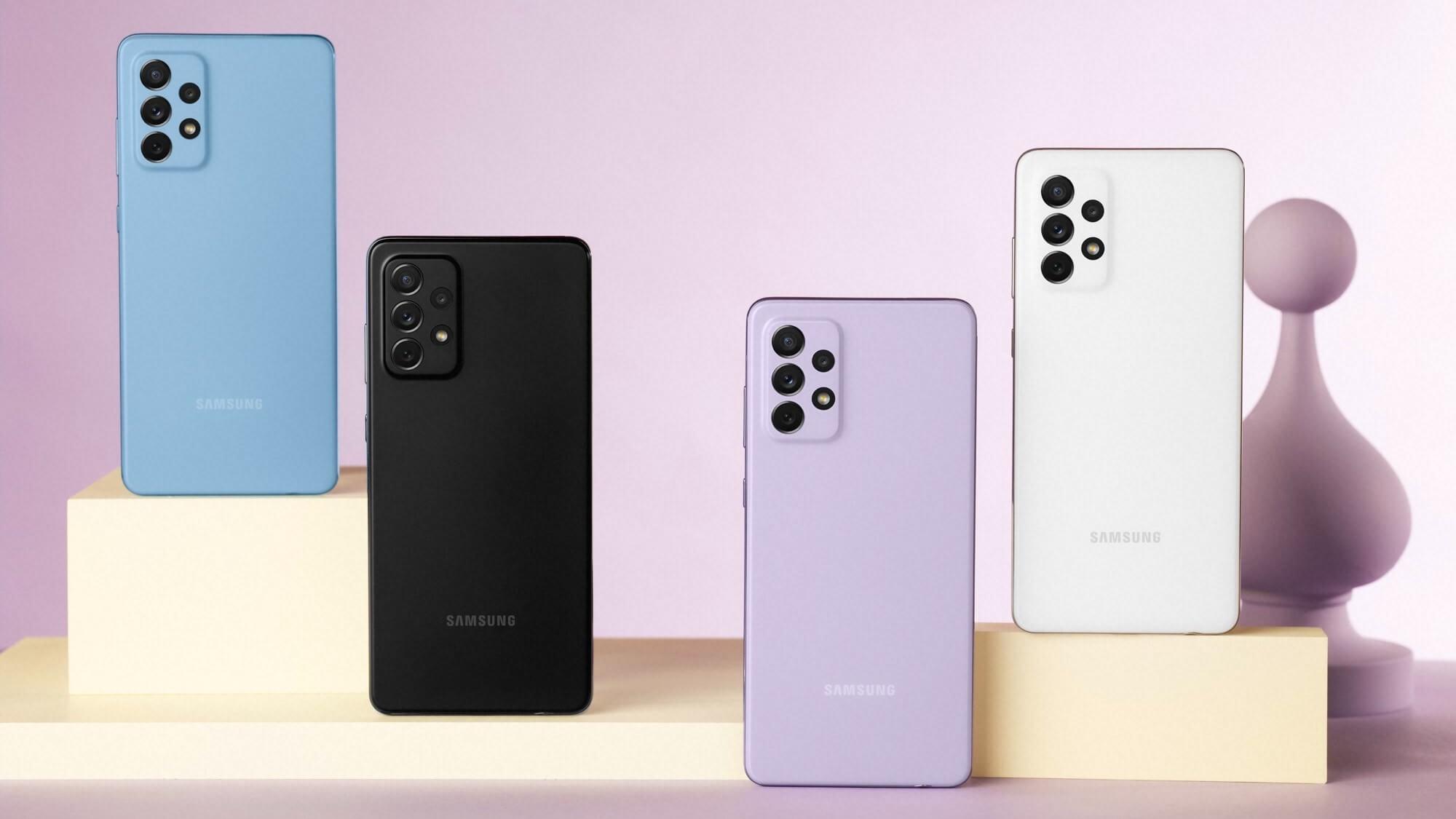 Samsung представила Galaxy A52 и Galaxy A72 – среднеуровневые смартфоны с защитой от воды