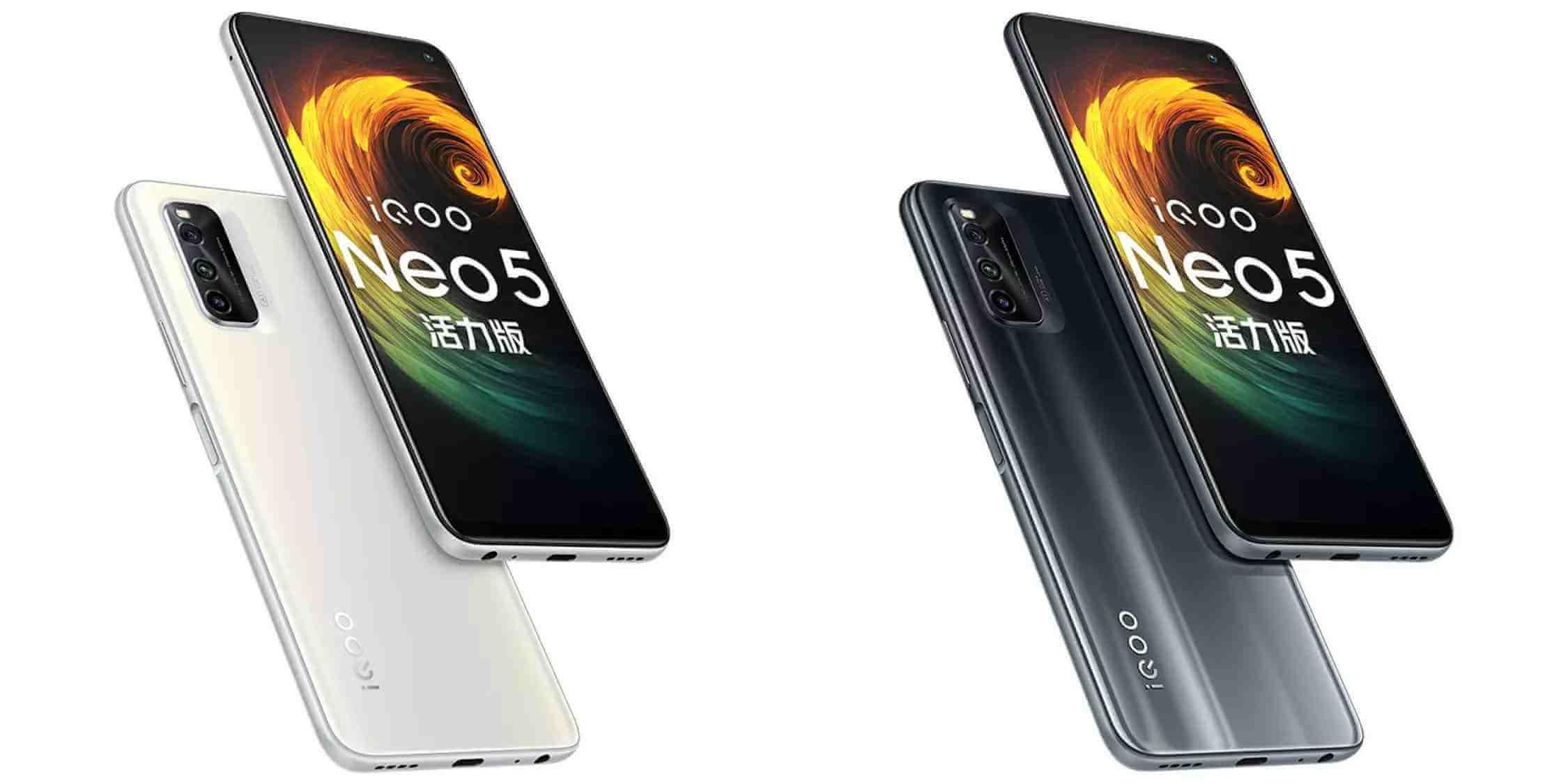 Представлен iQOO Neo 5 Vitality Edition с дисплеем 144 Гц и зарядкой на 44 Вт