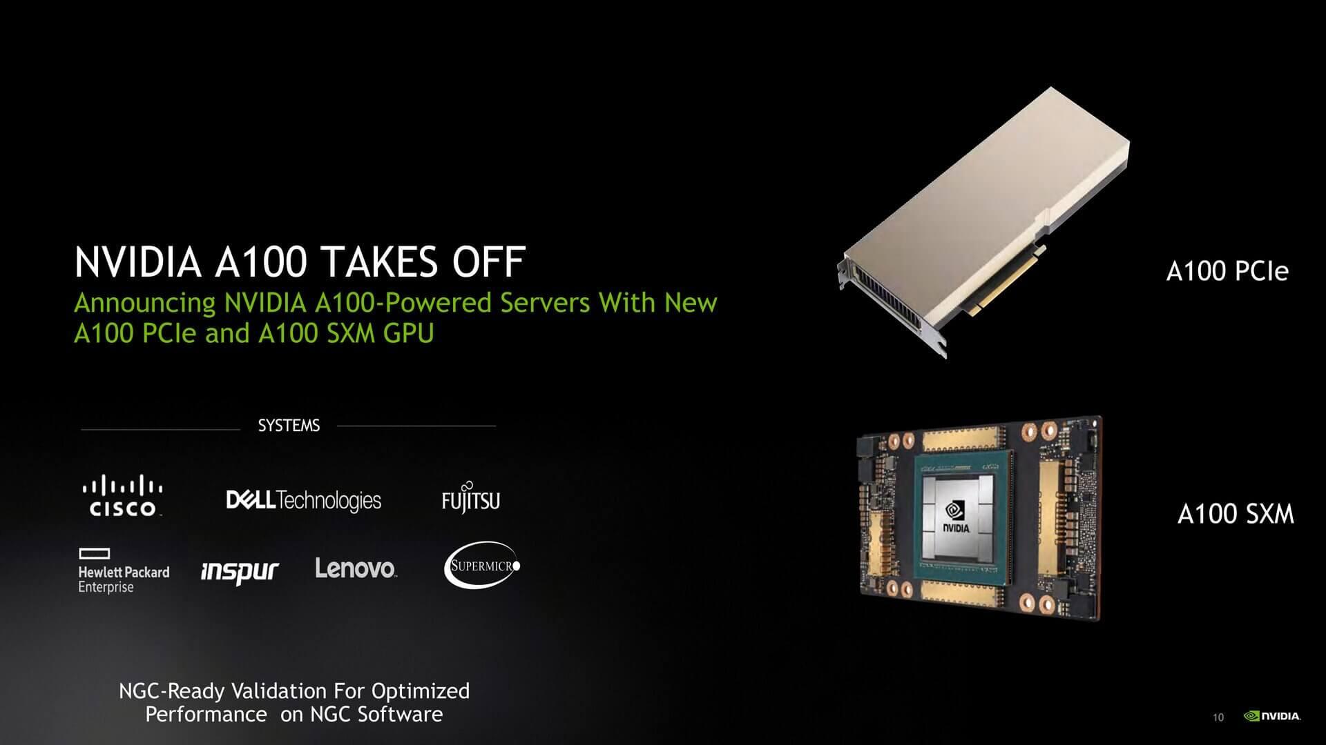 NVIDIA A100 представлен в версии с 80 ГБ памяти HBM2e