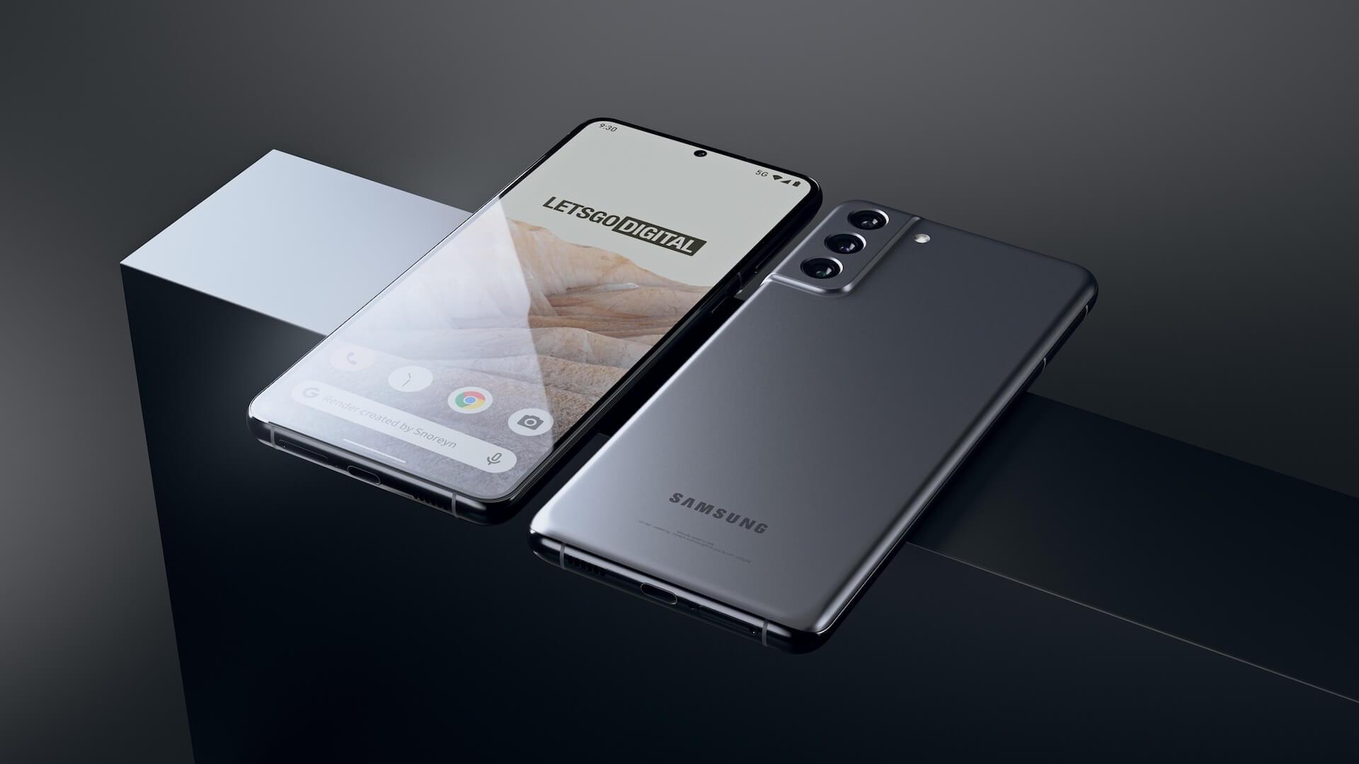 Дизайн Samsung Galaxy S21 FE 5G раскрыт на фото-рендерах