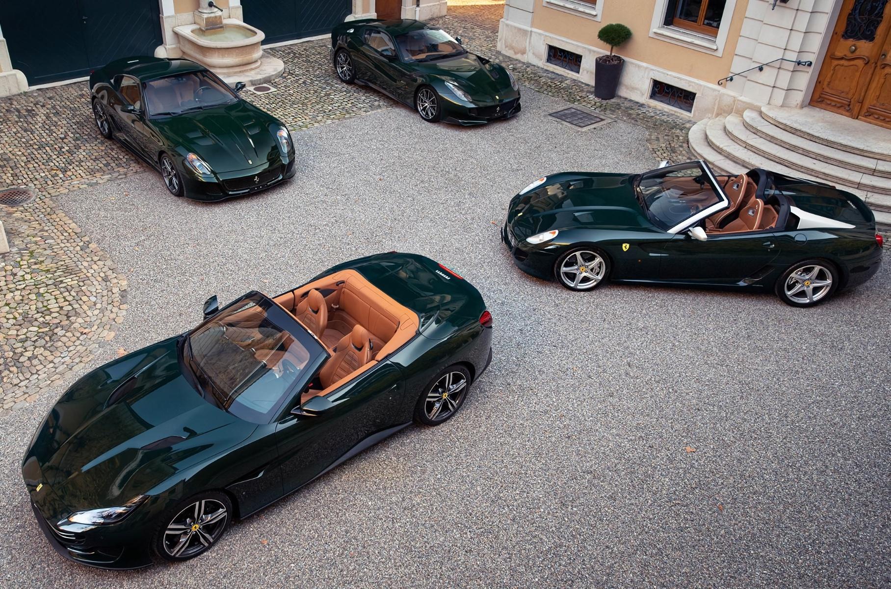Коллекцию зеленых Ferrari выставили на продажу