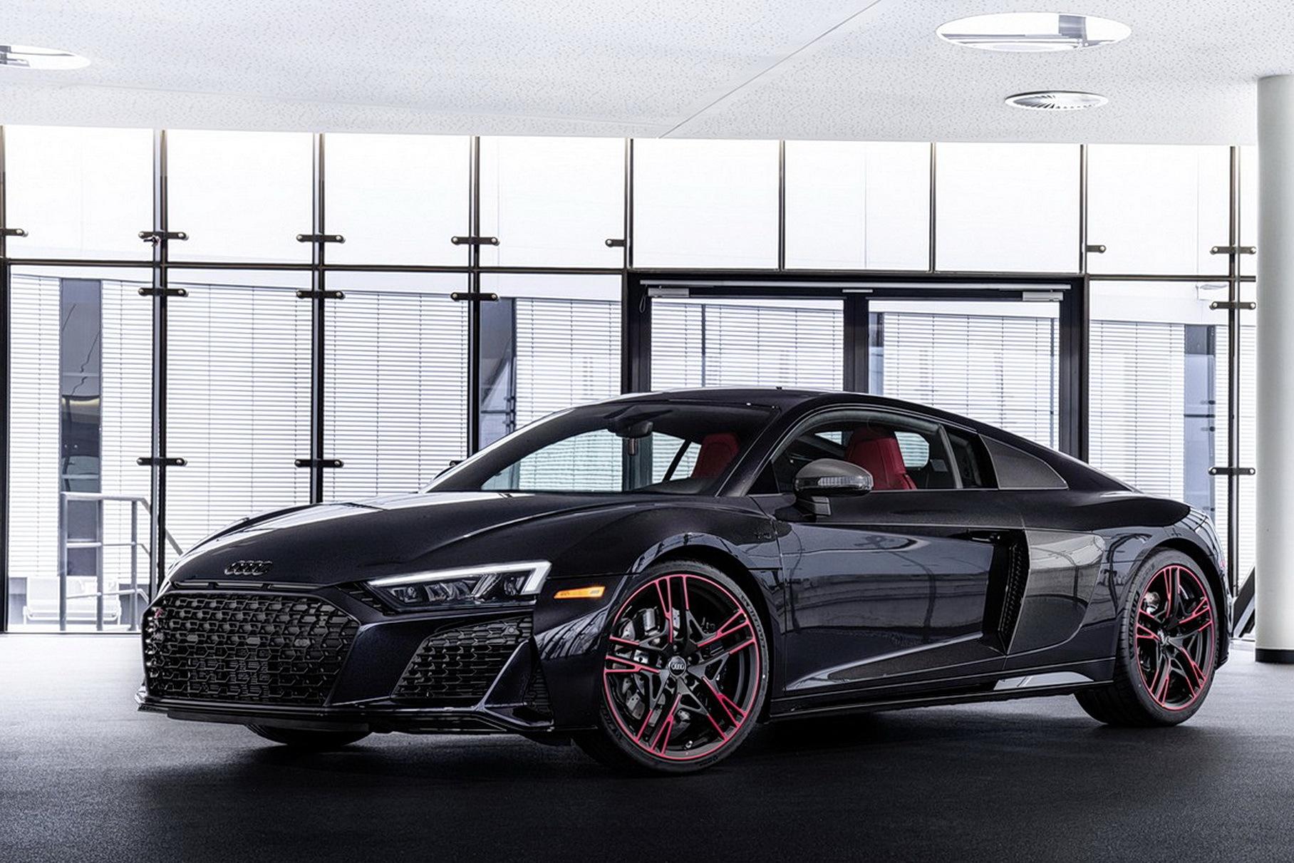 Audi выпустила спецверсию R8 в уникальном темно-фиолетовом цвете