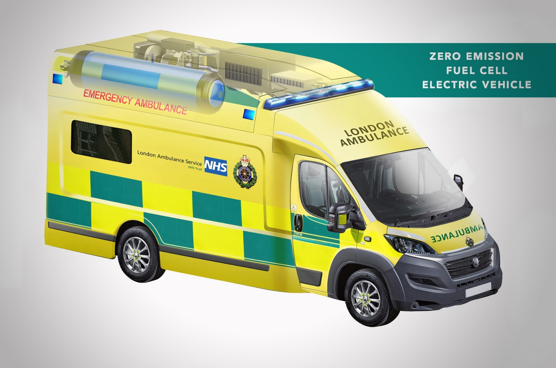 Представлена машина скорой помощи на водороде