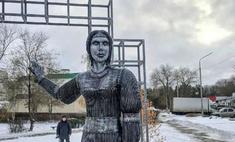 Страшный памятник нововоронежской Аленке продадут за крупную сумму