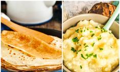 Готовим сытные блины с картофельной начинкой: видеорецепт
