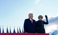 «Еще увидимся!»: Дональд и Мелания Трамп торжественно выехали из Белого дома