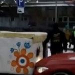 Необычное ДТП: В Кисловодске машина столкнулась с русской печкой