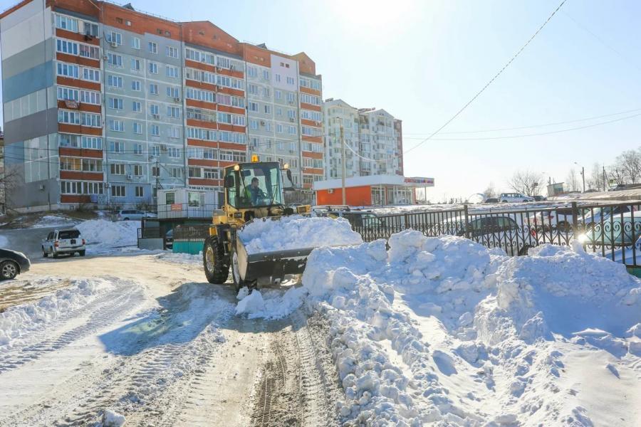 АО «Восточный Порт» помогает ликвидировать во Врангеле последствия снежных циклонов