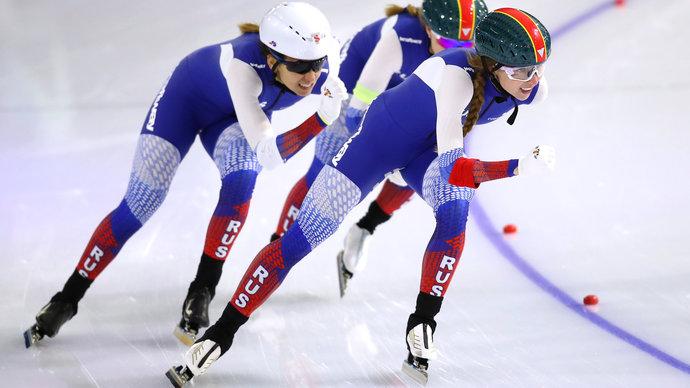 Российские конькобежки взяли бронзу в командной гонке преследования на ЧМ в Херенвене