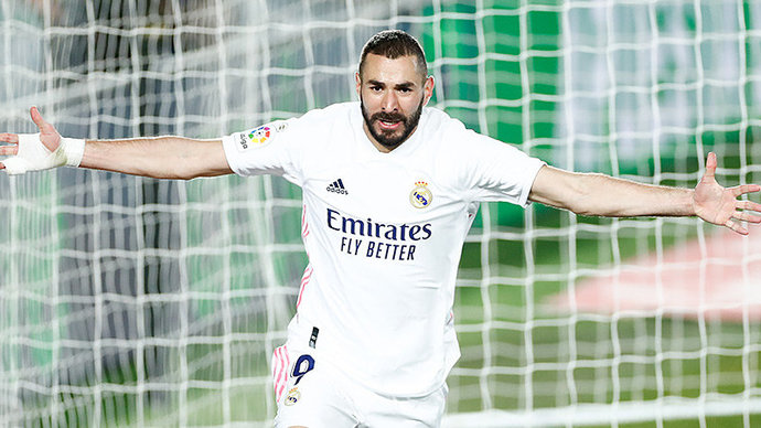 Гол Бензема спас «Реал» от поражения в дерби с «Атлетико»