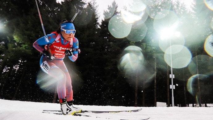 Российские биатлонистки заняли весь пьедестал в первой гонке на Кубке IBU в этом сезоне