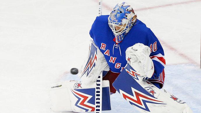 Вратарь «Рейнджерс» Георгиев признан третьей звездой дня в НХЛ