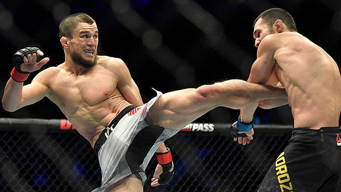 Умар Нурмагомедов одержал победу в дебютном поединке в UFC
