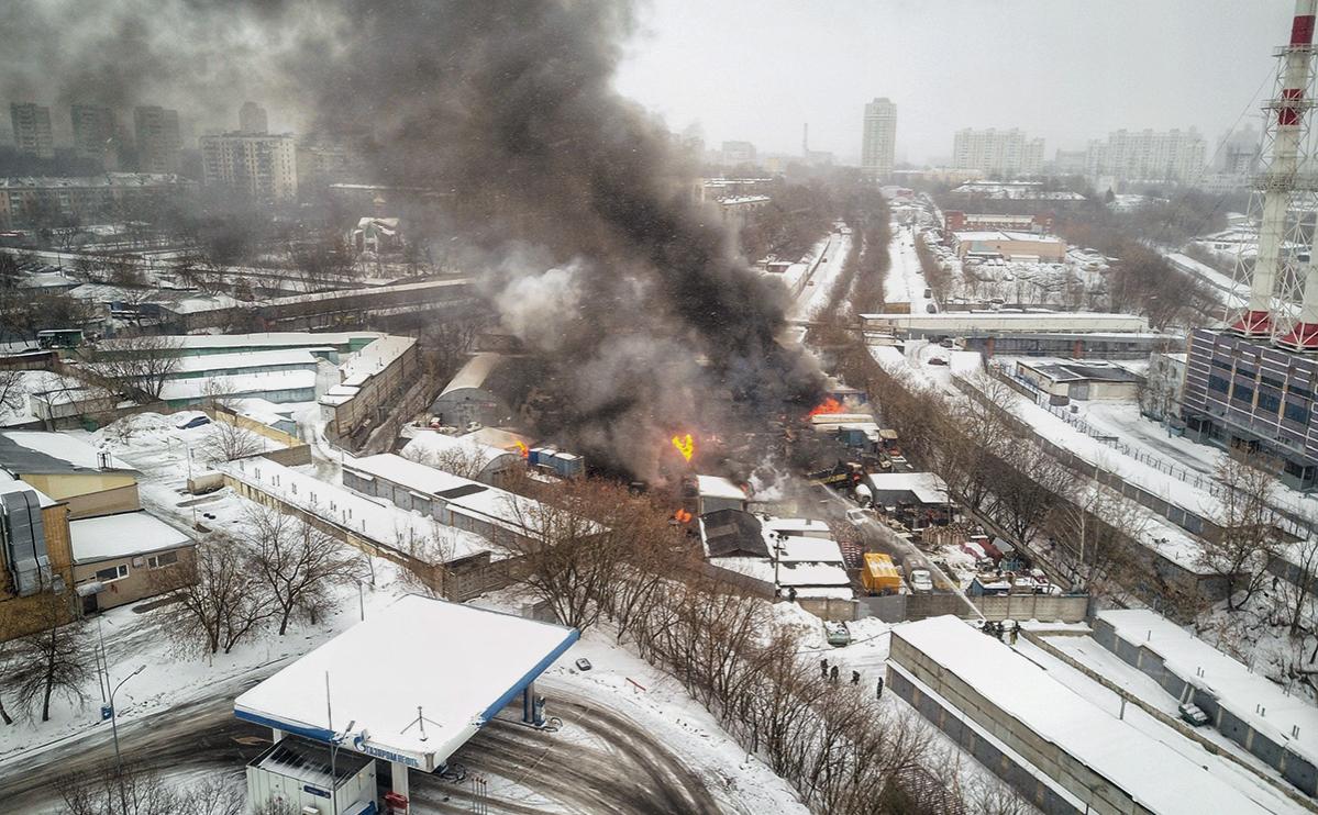 Один человек пострадал при пожаре на северо-западе Москвы