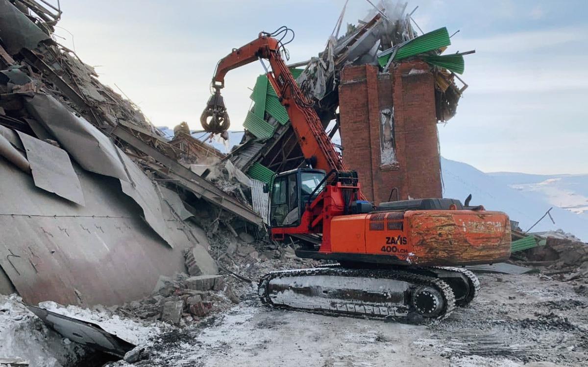 Спасатели завершили поисковые работы на месте обрушения в Норильске