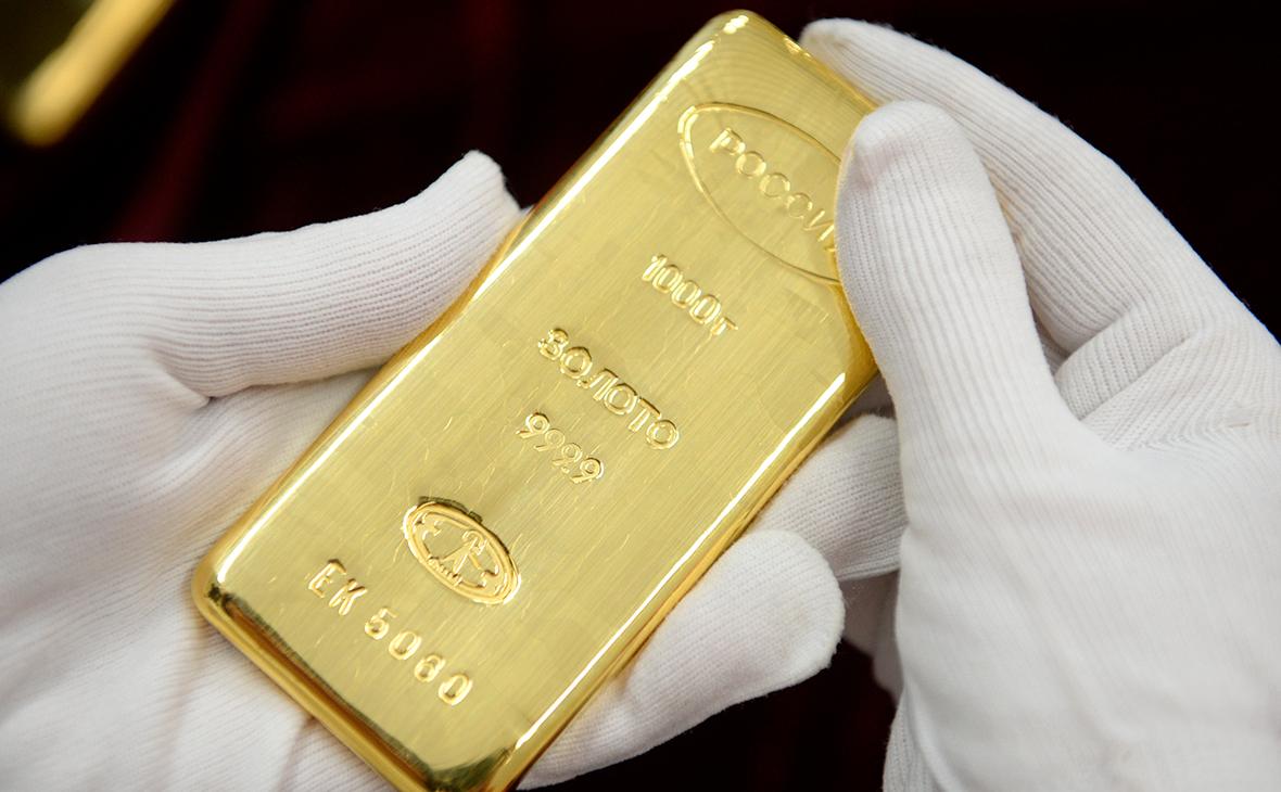 Запасы золота в российских банках упали до минимума за полтора года